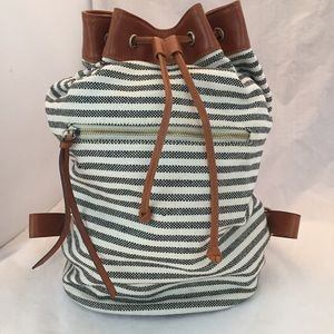 Sole Society Canvas Faux Leather Backpack